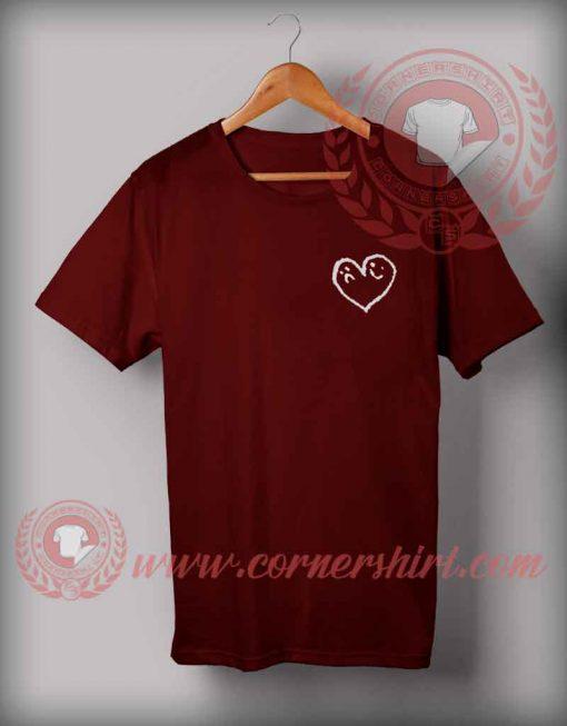 Sad And Happy In Love Emoji T shirt