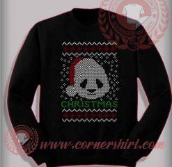 Santa Panda Face Christmas Sweatshirt