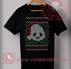 Santa Panda Face Christmas T shirt