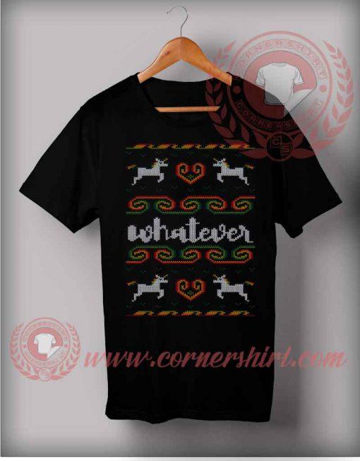 Whatever Unicorn Christmas T shirt