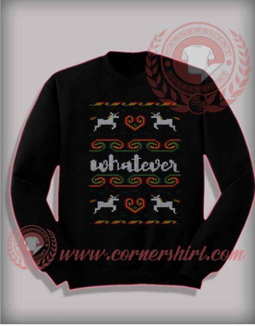 Whatever Unicorn Christmas ugly Sweatshirt