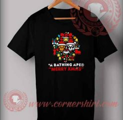 A Bathing Ape Merry Xmas T shirt