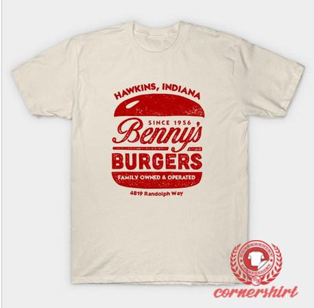 Benny's Burgers Hawkins Indiana T-Shirt