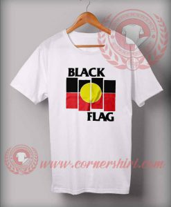 Black Flag Aboriginal X Flag T shirt