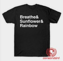 Breathe Sunflower Rainbow T-Shirt