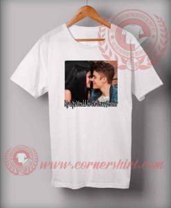 Justin Selena Kissing T shirt