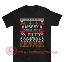 Marry Christmas Ya Filthy Animal Christmas T shirt
