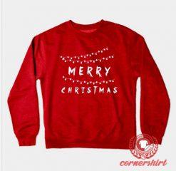 Merry Christmas Light Custom Design Sweatshirt
