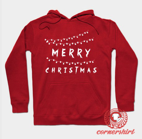 Merry Christmas Light Custom Design Hoodie