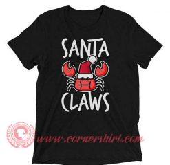 Santa Claws Crab Christmas T shirt
