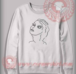 Beautiful Girl Illustrated Christmas Sweatshirt