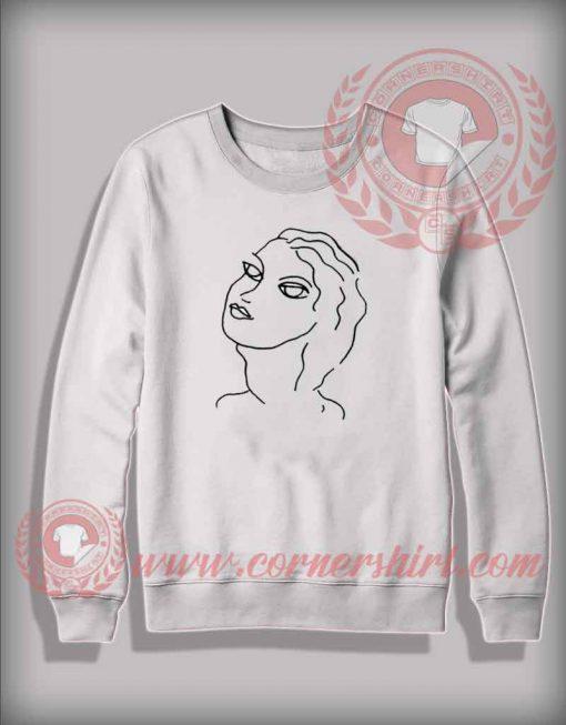 Beautiful Girl Illustrated Christmas Sweatshirt