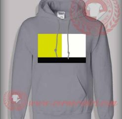 Yellow White Black Stripes Pullover Hoodie