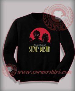 Adventures of Steve and Dustin Custom Design Sweatshirt