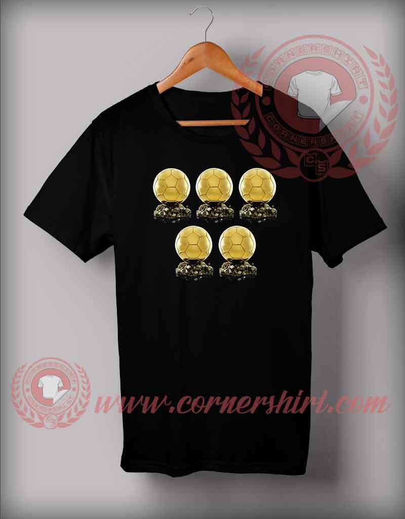 Cr7 Ballon D 39 Or Trophy Custom Design T Shirts Cristiano