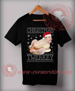 Christmas Twerkey Miley Cyrus Custom T shirt