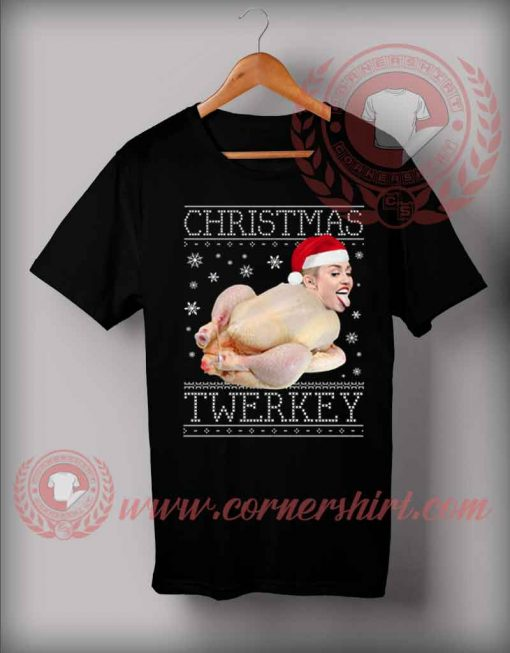 Christmas Twerkey Miley Cyrus Custom T shirt