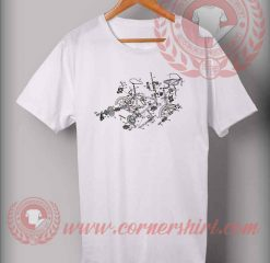 Exploded Bicycle Custom Design T shirts