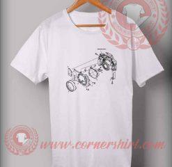 Exploded Camera Custom Design T shirts