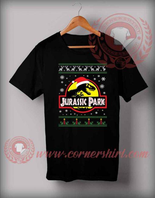 Custom Design T shirts Jurassic Park Christmas