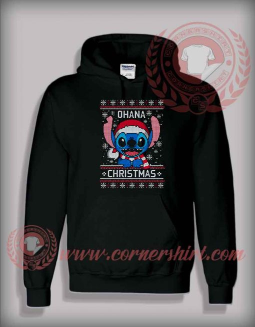 Custom Design Lilo Stitch Ohana Christmas Hoodie