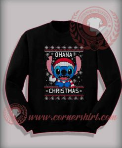 Lilo Stitch Ohana Christmas Custom Design Sweatshirt