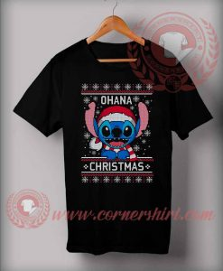 Custom Design T shirts Lilo Stitch Ohana Christmas