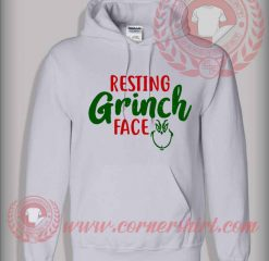 Custom Design Resting Grinch Face Christmas Hoodie