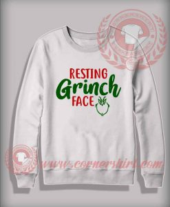 Resting Grinch Face Custom Design Sweatshirt