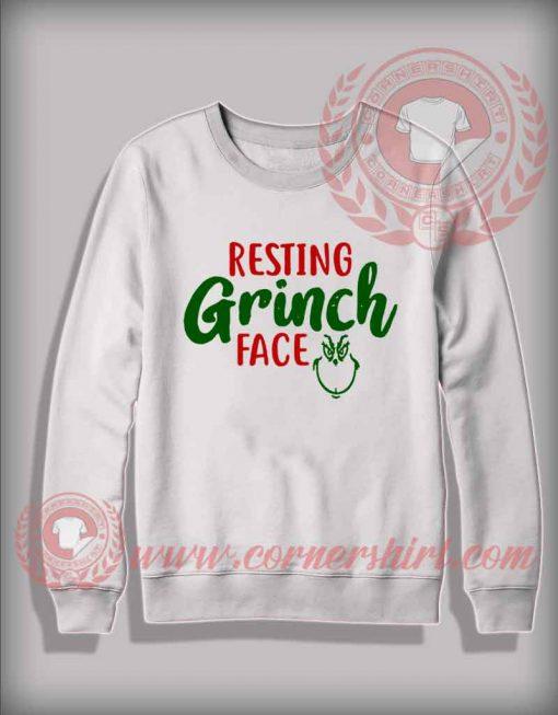 Resting Grinch Face Custom Design Sweatshirt
