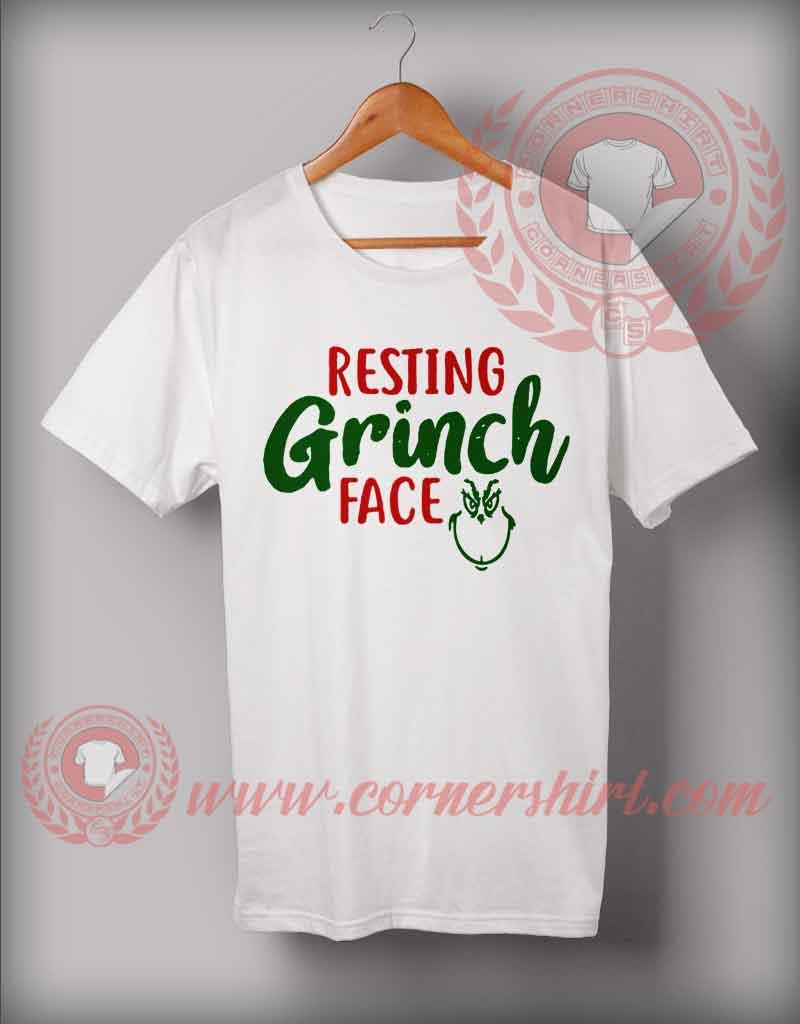 Disney Christmas Shirt Designs.Custom Design T Shirts Resting Grinch Face Christmas