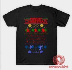 Stranger Christmas Custom Design T Shirts
