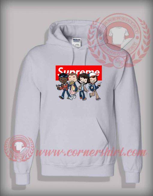 Custom Design Stranger Things Kids Supreme Hoodie