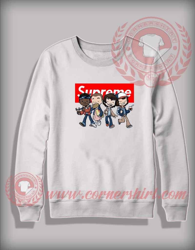 Custom design sweatshirt stranger things kids supreme for Personalized t shirts for kids cheap