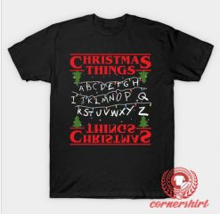 Stranger Things Christmas Custom Design T Shirts