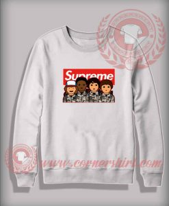 Stranger Things Supreme Camo Custom Design Sweatshirt