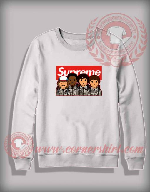 Stranger Things Supreme Camo Custom Design Sweatshirt