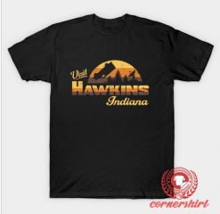 Visit Hawkins Indiana Custom Design T Shirts