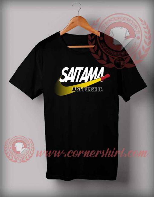 Saitama Just Punch It Custom Design T shirts