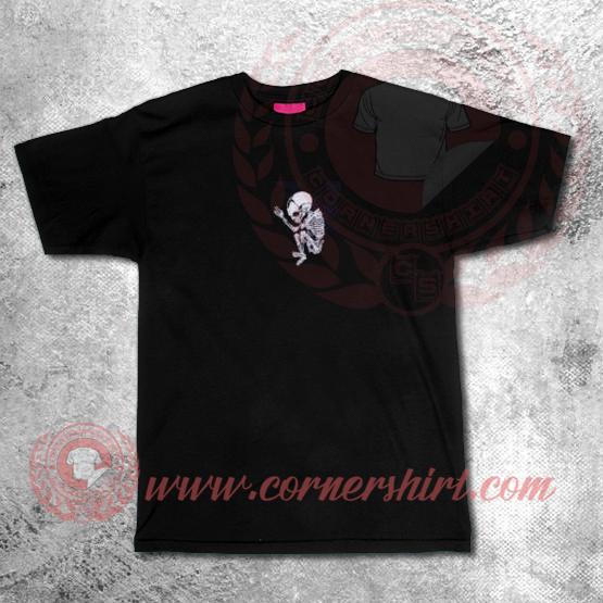 Custom Shirt Design Baby Skeleton