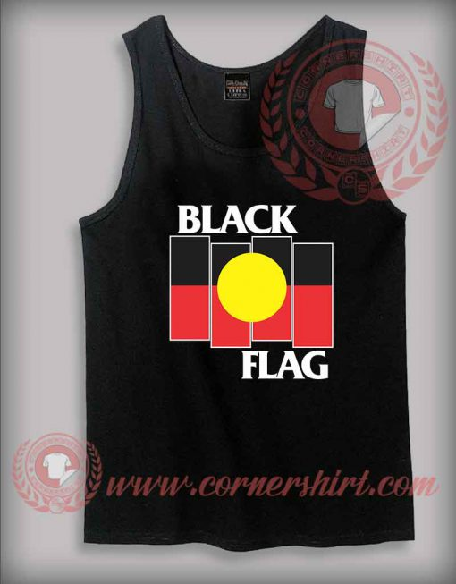 Black Flag Aboriginal X Flag Tank Top