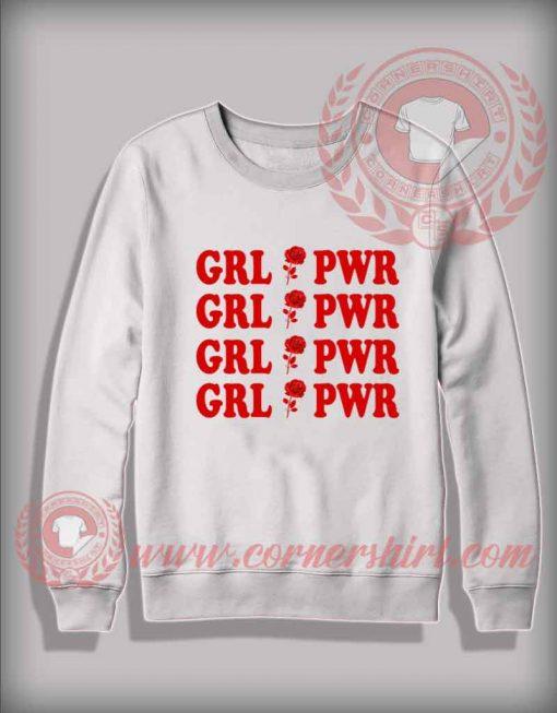 Girl Power Red Rose Custom Design Sweatshirt