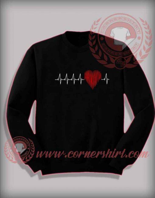 Heart beat Custom Design Sweatshirt