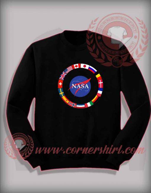 Custom Shirt Design Nasa All Country Flags Sweatshirt