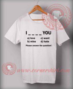 Custom Shirt Design Please Answer The Question