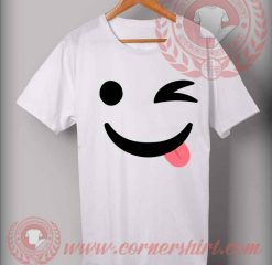 Wink Emoji Custom Design T shirts