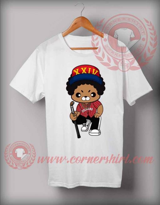Bruno Mars Cartoon Illustrated Custom Design T shirts