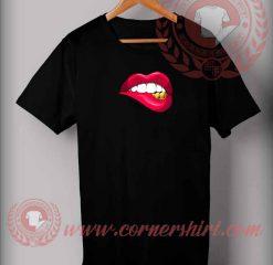 Fake Lips Custom Design T shirts