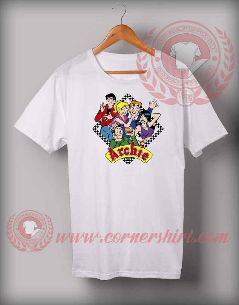 Halftone Archie Custom Design T Shirts Custom Shirt Design
