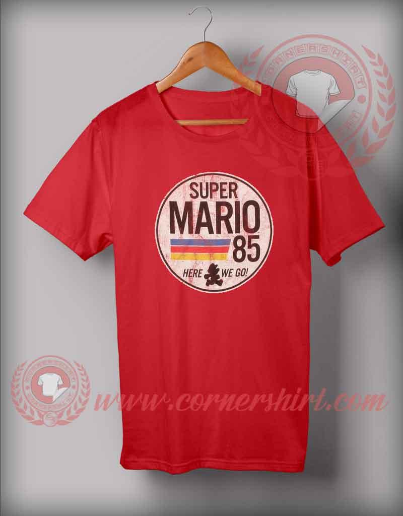 Super mario 85 custom design t shirts custom shirt design for Custom t shirts design